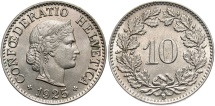 World Coins - SWITZERLAND: 1925-B 10 Rappen