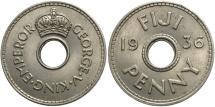 World Coins - FIJI: 1936 1 Penny
