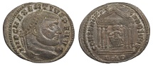 Ancient Coins - Maxentius 306-312 A.D. Follis Rome Mint EF
