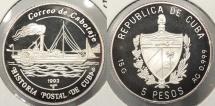 World Coins - CUBA: 1993 5 Pesos