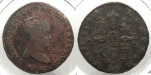 World Coins - SPAIN: 1847-Ja 4 Maravedis