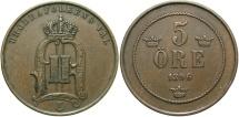World Coins - SWEDEN: 1896 5 Ore