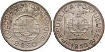 World Coins - MOZAMBIQUE: 1950 2 1/2 Escudos