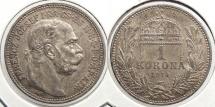 World Coins - HUNGARY: 1914-KB Korona