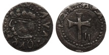 World Coins - SPAIN Mallorca (Majorca) Carlos (Charles) II 1665-1700 Contemporary Counterfeit Dinero EF