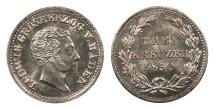 World Coins - GERMAN STATES Baden Ludwig I 1830 3 Kreuzer BU