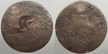 World Coins - BRAZIL: Para State ND (1835) Countermark on 1828-C 40 Reis 10 Reis