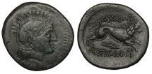 Ancient Coins - Lower Danube Uncertain Tribe Imitating Lysimachos of Thrace c. 3rd Century B.C. AE21 Near EF