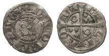 World Coins - SPAIN Catalonia (Catalunya)  Jaime II 1291-1327 Dinero (Diner)  Near EF