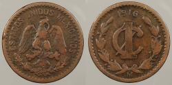 World Coins - MEXICO: 1916-Mo Key date. Centavo