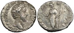Ancient Coins - Marcus Aurelius, as Caesar 161-180 A.D. Denarius Rome Mint VF