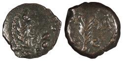Ancient Coins - Judaea Roman Procurators Valerius Gratus, under Tiberius 15-26 A.D. Prutah Fine