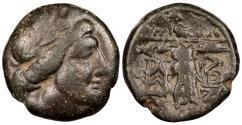 Ancient Coins - Thessalian League Hippolochos and Ari…, magistrates c. 150-100 B.C. AE19 VF