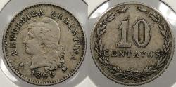 World Coins - ARGENTINA: 1898 10 Centavos