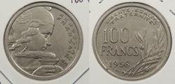 World Coins - FRANCE: 1958 Wing privy mark. 100 Francs
