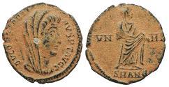 Ancient Coins - Divus Constantine Died 337 A.D. AE4 Antioch Mint Near EF