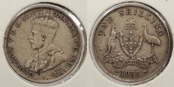 World Coins - AUSTRALIA: 1935 Shilling