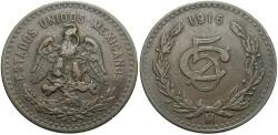 World Coins - MEXICO: 1916-Mo 5 Centavos