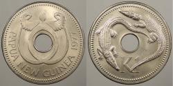World Coins - PAPUA NEW GUINEA: 1977-FM Crocodiles Kina