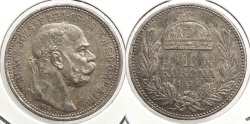 World Coins - HUNGARY: 1915-KB Korona
