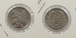 World Coins - CHILE: 1921-So 5 Centavos