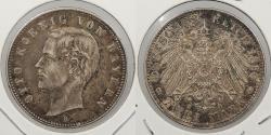 World Coins - GERMAN STATES: Bavaria 1896-D 2 Mark