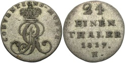 World Coins - GERMAN STATES: Hannover 1817 1/24 Thaler