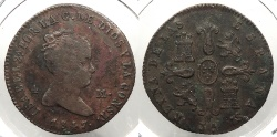 World Coins - SPAIN: 1847-Ja 4 Maravedis