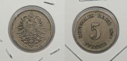 World Coins - GERMANY: 1876-H 5 Pfennig
