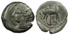 Ancient Coins - Zeugitania Carthage c. 300-264 B.C. AE17 VF