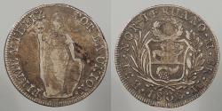 World Coins - PERU: North Peru 1838-LIMAE M 8 Reales