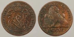 World Coins - BELGIUM: 1858 Without dash under Cent. Centime