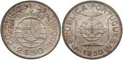 World Coins - MOZAMBIQUE: 1950 2 1/2 Escudos