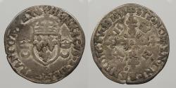 World Coins - FRANCE: 1552-P Dijon Mint. Douzain aux Croissants