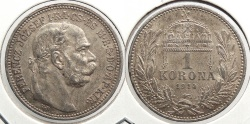World Coins - HUNGARY: 1914-KB Korona