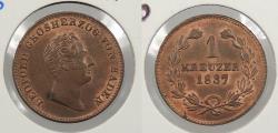 World Coins - GERMAN STATES: Baden 1837 Kreuzer