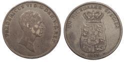 World Coins - DENMARK Frederik VI 1834 Specie Daler (Thaler) VF