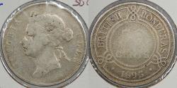World Coins - BRITISH HONDURAS: 1895 Victoria 50 Cents