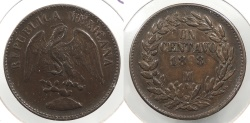 World Coins - MEXICO: 1898-Mo Centavo