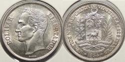 World Coins - VENEZUELA: 1954 Bolivar