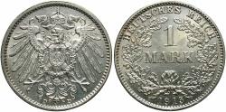 World Coins - GERMANY: 1915-D 1 Mark