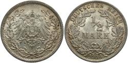 World Coins - GERMANY: 1914-A 1/2 Mark