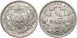 World Coins - GERMANY: 1916 G 1/2 Mark