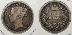 World Coins - GREAT BRITAIN: 1877 Victoria. Shilling