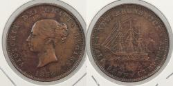 World Coins - CANADA: New Brunswick 1854 Halfpenny Token