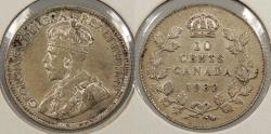 World Coins - CANADA: 1932 George V 10 Cents