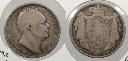 World Coins - GREAT BRITAIN: 1834 W.W. in script. Halfcrown