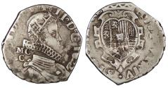 World Coins - ITALIAN STATES Kingdom of Naples Philip IV, of Spain 1622-MC/C Tari VF