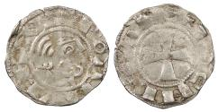 World Coins - CRUSADERS Principality of Antioch Bohemund III, Minority 1149-1163 Denier VF