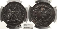 World Coins - MEXICO 1889-Mo Centavo NGC MS-62 BN